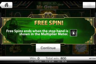 The Marvellous Mr Green Free Spins