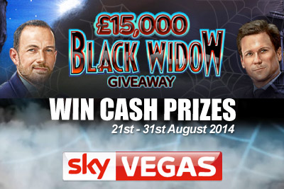 Win Cash Prizes with Playing Black Widow at Sky Vegas Mobile Casino
