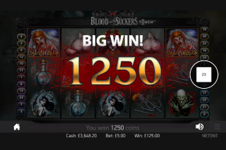 Blood Suckers Mobile Slot Big Win