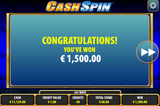 Cash Spin Mobile Slot Big Win