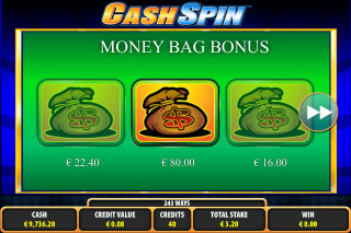 Cash Spin Mobile Slot Money Bag Bonus