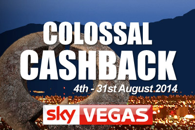 Get Your Colossal Casino Cashback in August 2014