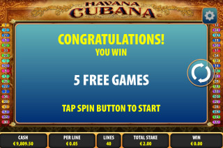 Havana Cubana Free Spin Games
