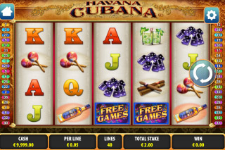 Havana Cubana Mobile Slot Screenshot