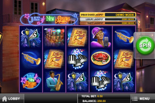 Jazz of New Orleans Slot Screenshot