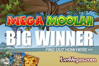 Mega Moolah Progressive Jackpot Slot Winner at Leo Vegas