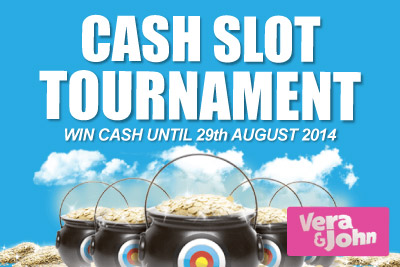 Play Slots & Win Cash at Vera&John Mobile Casino in August