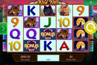 Wild Wolf Mobile Slot Screenshot