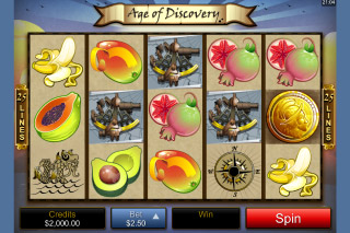 Age of Discovery Mobile Slot Screenshot