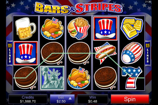 Bars & Stripes Slot Win