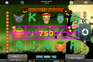 Halloween Horrors Slot Big Win