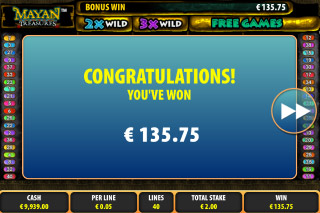 Mayan Treasures Mobile Slot Big Win