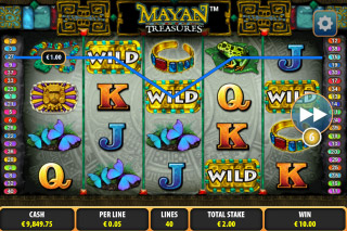 Mayan Treasures Mobile Slot Screenshot