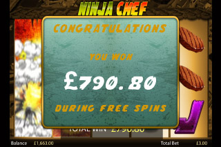Ninja Chef Slot Big Win