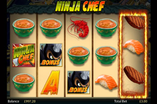 Ninja Chef Mobile Slot Screenshot