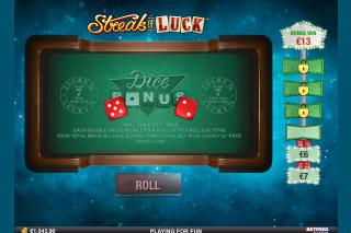 Streak of Luck Slot Bonus Dice Game