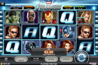 The Avengers Mobile Slot Screenshot