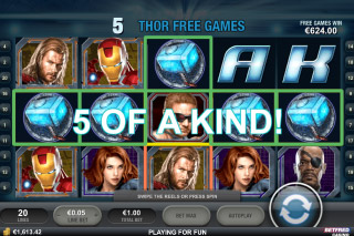 The Avengers Mobile Slot Thor Free Spins