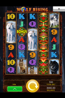 Wolf Rising Slot Screenshot