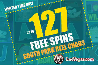 Get up to 127 Free Spins Casino Bonus on New NetEnt Slot Game