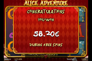 Alice Adventure Mobile Slot Free Spins Win
