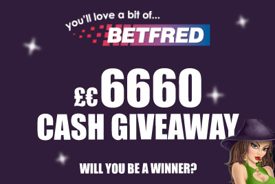 Win Cold Hard Cash with BetFred Mobile Casino Giveaway