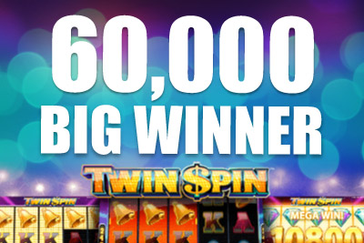 Twin Spin Slot Helps Johannes to his 60,000 Big Win