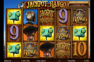 Jackpot Rango Progressive Slot Symbols