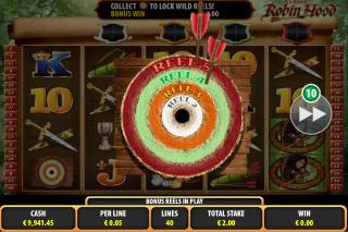 Lady Robin Hood Mobile Slot Bullseye
