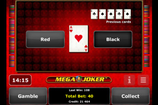 Mega Joker Mobile Slot Gamble Feature