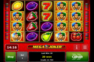 Mega Joker Mobile Slot Screenshot