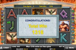 Myth Slot Free Spins Win