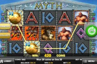 Myth Mobile Slot Screenshot