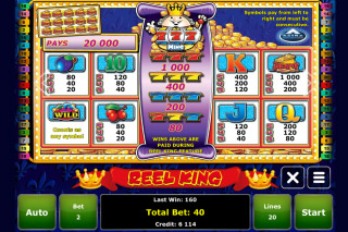 Reel King Mobile Slot Paytable
