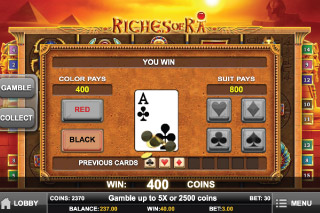 Riches of Ra Slot Gamble Feature