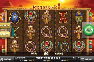 Riches of Ra Slot Screenshot