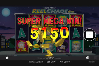 South Park Reel Chaos Mobile Slot Super Mega Win