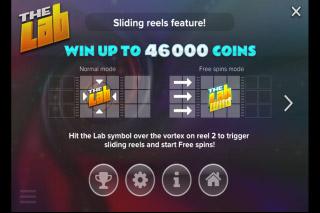 The Lab Mobile Slot Sliding Reels Feature