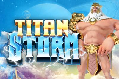 Titan Storm Mobile Slot Logo