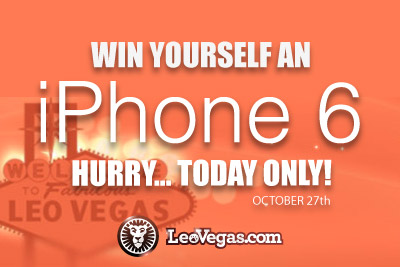 Win an iPhone 6 at Leo Vegas Mobile Casino Today Only!