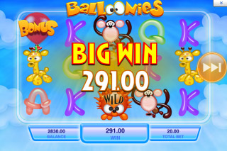 Balloonies Mobile Slot Big Win