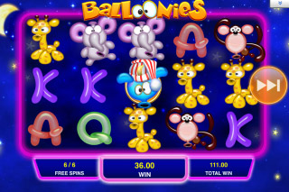Balloonies Mobile Slot Free Spins