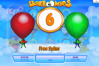 Balloonies Mobile Slot Pick Me Bonus