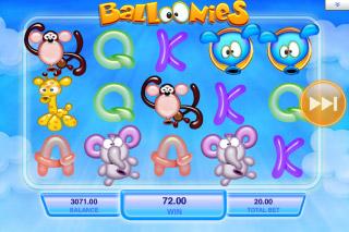 Balloonies Mobile Slot Screenshot