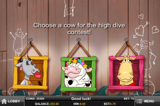 Crazy Cows Mobile Slot Pick Me Bonus
