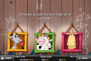Crazy Cows Mobile Slot Pick Me Bonus