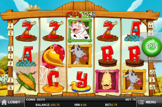 Crazy Cows Mobile Slot Game Screenshot