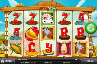 Crazy Cows Mobile Slot Game Screenshot