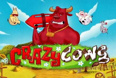 Crazy Cows Mobile Slot Logo