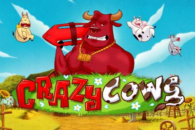 Crazy Cows Mobile Slot Logo